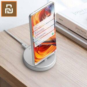 Image 5 - Беспроводная подставка для телефона Youpin Panki, зарядное устройство Type C 18 Вт, быстрая Беспроводная зарядка для Samsung Huawei Xiomi, держатель для быстрой зарядки