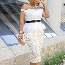 Женское кружевное платье с открытыми плечами md вечернее облегающее