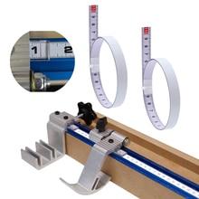 Selbstklebende Lineal Gehrung Track Maßband Stahl Gehrung Sah Skala Für T-track Router Tisch Band Sah holzbearbeitung Werkzeug