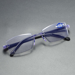 Ultralight Rimless Reading Glasses Anti Blue Light Radiation Computer Presbyopia Readers spectacleso Reader Glasses