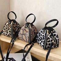 Luxury Handbags Messenger Bags Leopard Print Women' s Trend Large Capacity Leather Shoulder Bag Messenger Bag borse da do