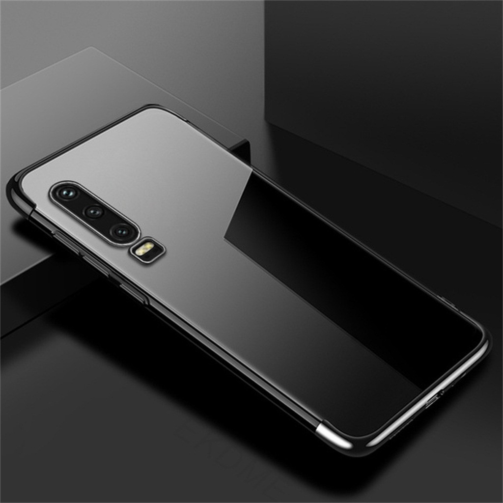 For Huawei P30 6.1Inch Pure Color Mobile Phone Cases Clear Shock Bumper Case Protective Tpu Gel Cover Protection Back Cover