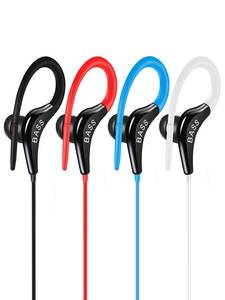 Hot Sale ST3  Ear Hook Headphones Stereo Running Earphone Super Bass Sport wired Headset Comfortable to Wears for iphone Xiaomi