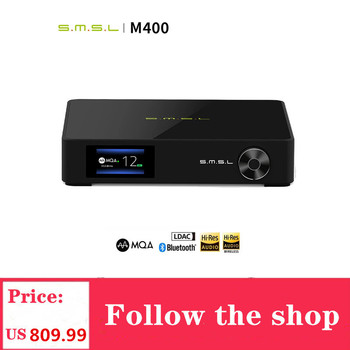 SMSL M400 Player Bluetooth UAT Decoder DAC Chip AK4499 Support MQA Decoding DSD 32-bit 768kHz USB XMOS XU216