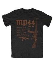 MP44 черная футболка Landser Deutsches Reich Ruhm Ehre WW2, сварная прочная футболка, мужские топы, одежда