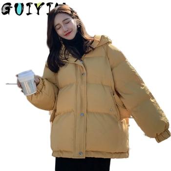 Oversize Winter Puffer Jackets For Women Female Korean Loose Long Sleeve Coats Woman Parkas Fashion Warm Coats And Jackets Women zawfl fashion coats female winter korean style double row beading long sleeved slim tweed women cardigan jackets