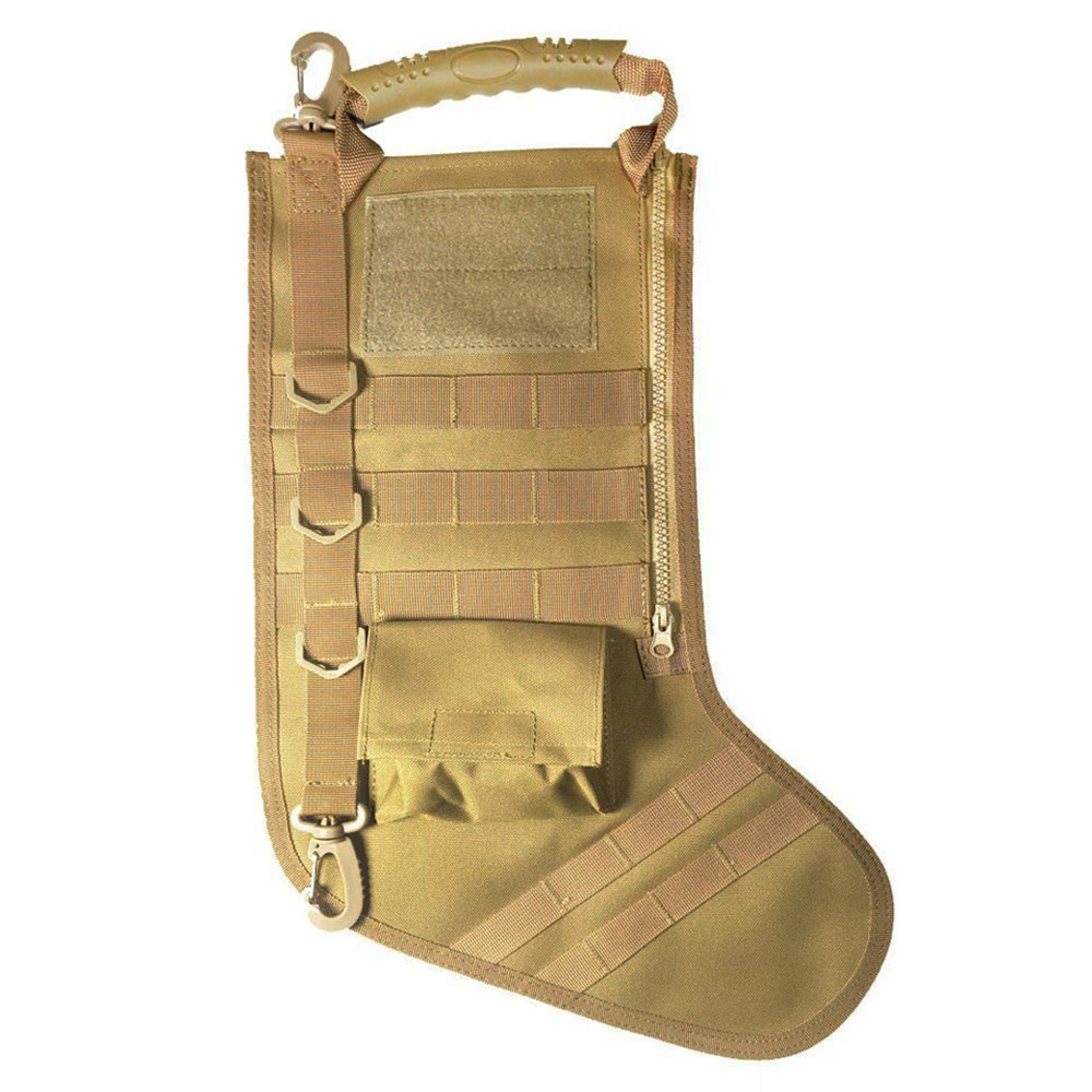 Tactical Christmas Stocking Bag Ruck Up Hanging Santa Stocking Christmas Decoration Gifts Stocking Bag