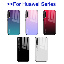 Gradient Protective Tempered Glass Case For Huawei P30 Pro P20 lite light