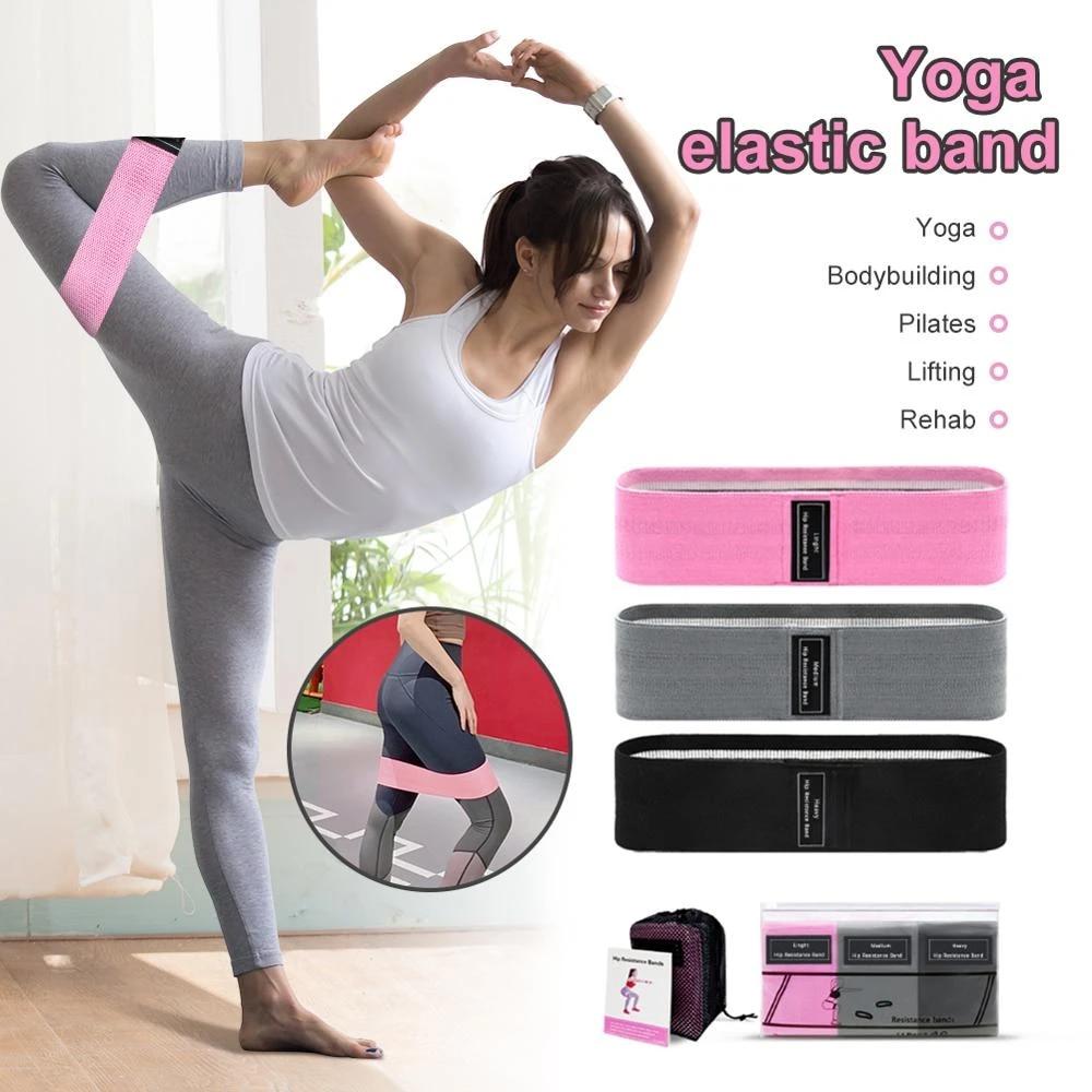 Resistance Bands Set of 5 Pink Glutes Yoga Gym Workout Fitness