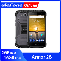 Ulefone Armor 2S IP68 Waterproof Mobile Phone Android 7.0 5.0 FHD MTK6737T Quad Core 2GB+16GB 4G Global Version Smartphone
