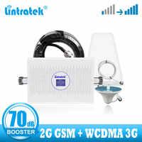 Lintratek 2G 3g Усилитель сотового сигнала gsm 900 2100 WCDMA усилитель сигнала umts Усилитель 2G 3g повторитель голосовых данных 70 дБ