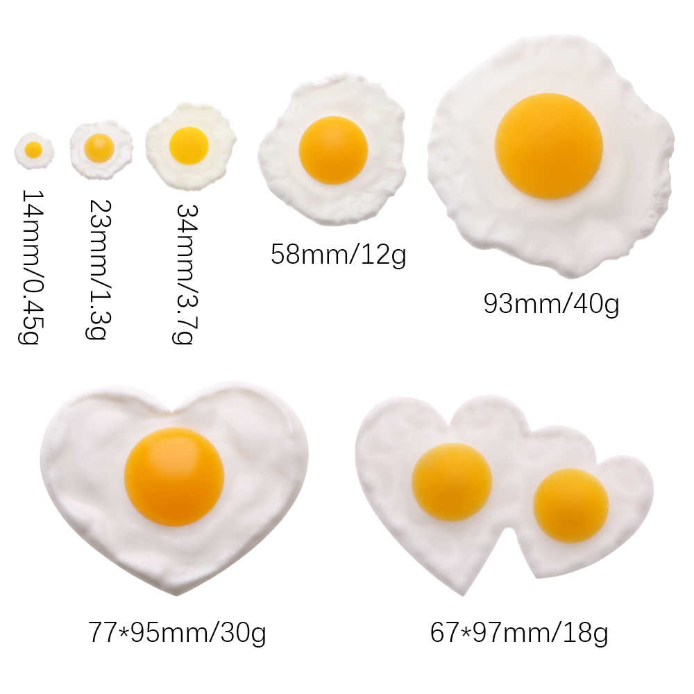 Zabawki kuchenne symulowane jajko sadzone jajka sadzone fałszywe jedzenie DIY kreatywne ręcznie zabawka dla dzieci dekoracje nauczania rekwizyty
