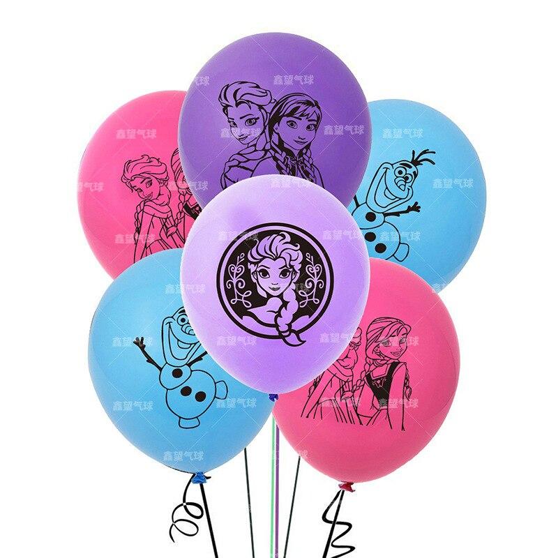 20pcs Frozen 2 Party Decoration Balloon Set Combination Princess Aisha Latex Balloon Children's Birthday Toy Gift
