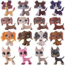LPS mascota pequeña tienda de pelo corto gato Gran Danés Collie perro Spaniel perro colección modelo de figuras de acción muñecas y juguetes para niños de regalo