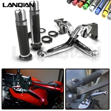 For Yamaha XJ6 DIVERSION Motorcycle Brake Clutch Lever & 7/8 Handlebar Grips XJ6 2009 2010 2011 2012 2013 2014 2015 Accessories for yamaha xj6 diversion xj6diversion xj 2009 2014 free shipping motorcycle adjustable folding extendable brake clutch lever
