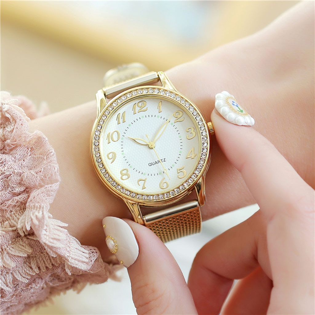 Relogio Feminino Luxury diamond Watches Quartz Watch Stainless Steel Dial Casual Ladies Watch Women Wristwatch Zegarek Damski W3 4