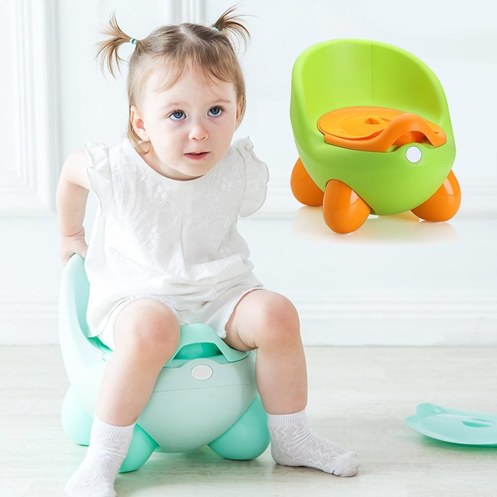 Baby Potty Toilet Seat Bowl Portable Training Pan Children's Pot Kids Bedpan Comfortable Backrest Toilet Girls Boys Cartoon Pots