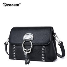 Fashion New Women Leather Bags ZOOLER High Quality Cow Leather Shoulder Bags for Gilrs DesignerBrand Cross Body Tote Bags#LT239(China)