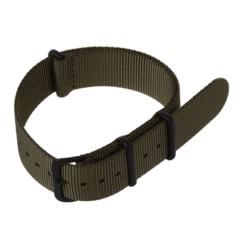 New 20mm Army Green Nylon Fabric Outdoor Sport Watch Band Strap Fits TIMEX WEEKENDER WB2034
