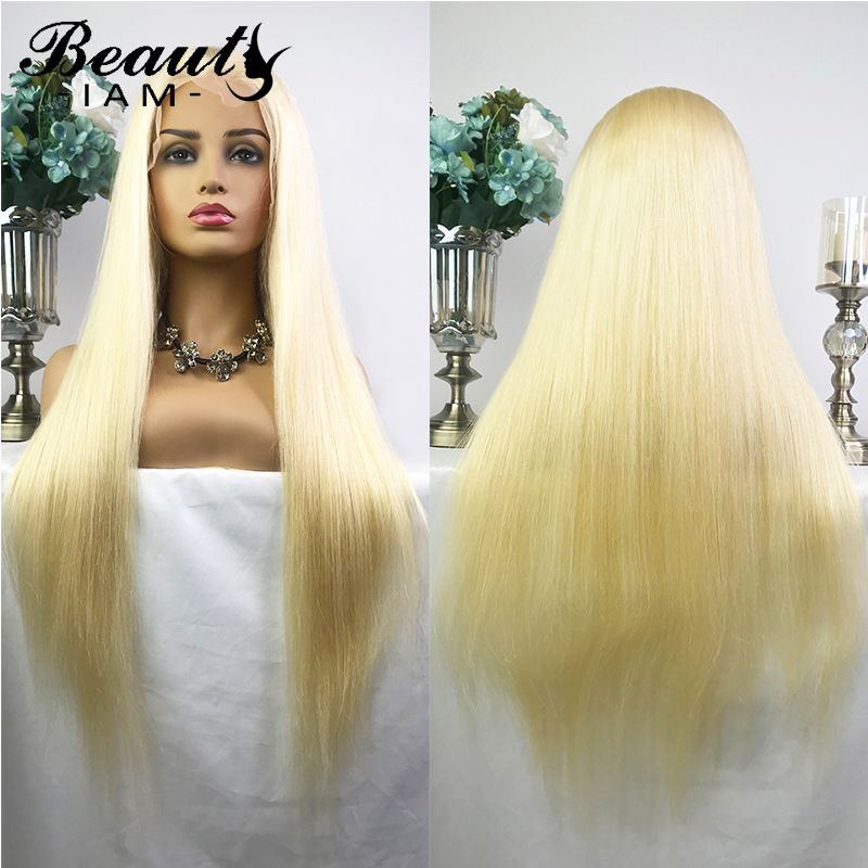 Brazilian Straight hair wig 613 Blonde Human Hair Wigs Virgin hair pre plucked Remy 13X6 Lace Front Wigs for Black Women image
