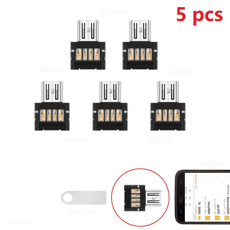 5pcs USB-C 3.1 Type-C Connector Type C Micro USB 2.0 Male To Female OTG Adapter Converter For Android Tablet Flash Drive U Disk