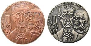Германия 1915, пробуждение египетской меди/посеребренные копии монет