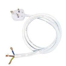İngiltere tak güç kablosu 0.5/1/1./2/3/5/10M elektrik teli güç besleme kablosu AC kablosu uzatma soketi için lamba