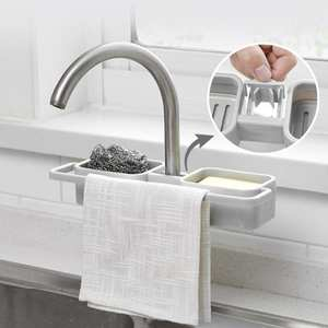 Shelf Organizer Drain-Rack-Holder Soap-Storage Kitchen-Sink-Faucet Sponge Home-Accessories