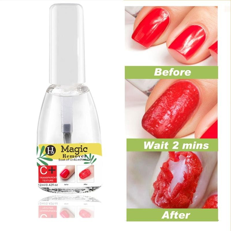 15ml Nail Magic Remover Gel Burst Remover Gel Fast Healthy Nail Polish Cleaner Manicure Tools Nail Polish Remover