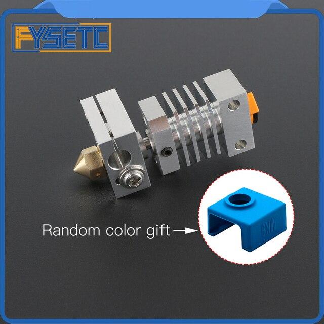 Cr10 dissipador de calor todo o metal hotend kit atualização para CR 10 Ender 3 impressoras micro suíço cr10 hotend titânio disjuntor garganta