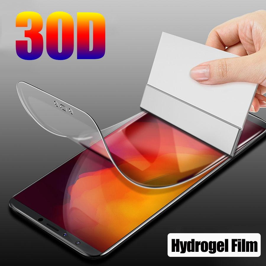 Película protetora 30d de hidrogel, filme protetor de tela para lg g5 g6 g7 g8 thinq, lg q7 q6 plus v20 v30 película de cobertura completa v40 v50 k12