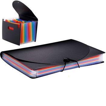13 kieszenie Folder Organizer do dokumentów rozszerzenie pliku torba kolor tęczy akordeon Folder A4 rozmiar z prowadnicami plików papierowe etykiety tanie i dobre opinie Bonytain CN (pochodzenie) Rozszerzenie portfel 178*118*25mm Z tworzywa sztucznego File Folder Document Organizer Rainbow Color Accordion Folder