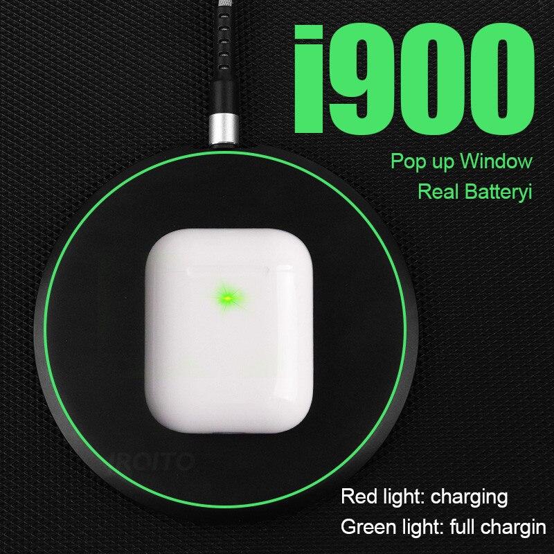 I900TWS 1:1 Réplica Air2 Pop up uso Separado fone de Ouvido Sem Fio QI Carregamento Sem Fio PK w1 H1 chip i60 i200 i30 i80 i1000tws i500