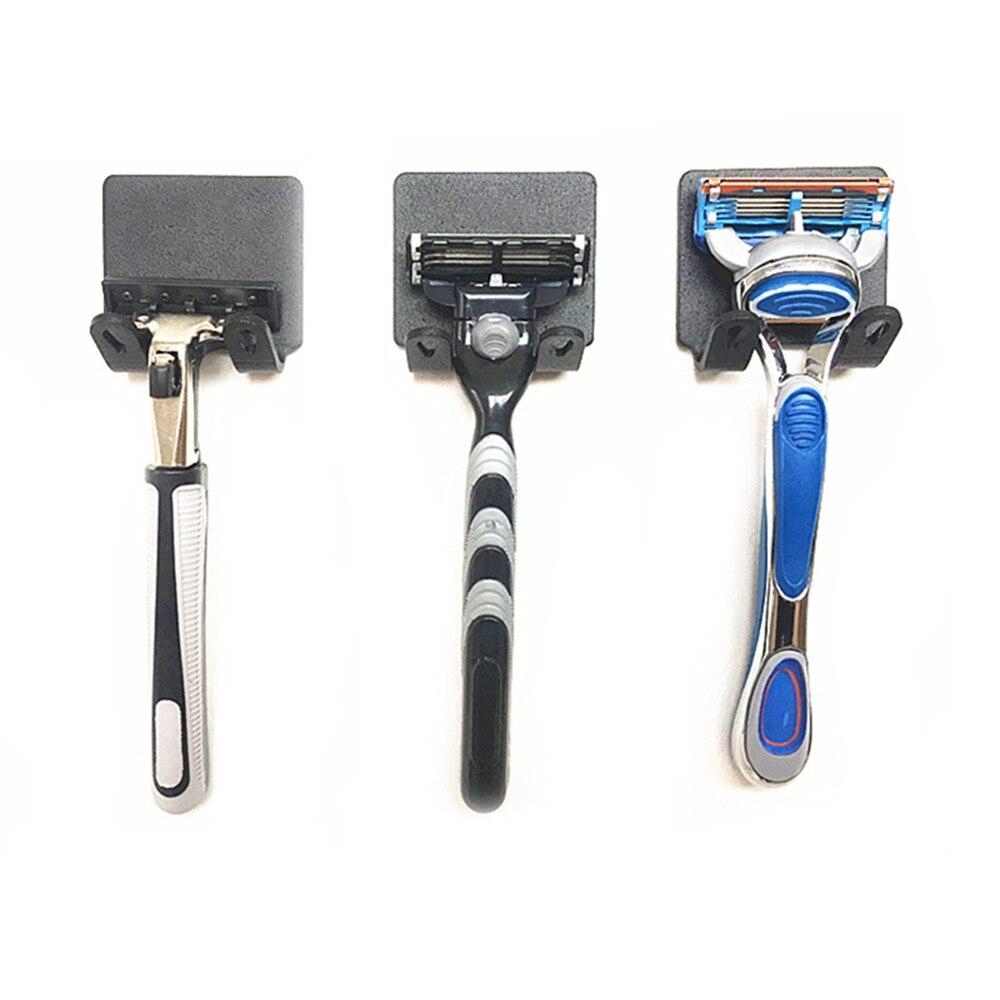 Useful 1Pc New Men Shaving Shaver Shelf 304 Stainless Steel Razor Holder Shaving Razor Rack Bathroom Viscose Razor Hook