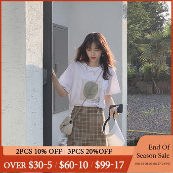 MISHOW 2 Piece Set Women 2019 Summer T-Shirt Top +Mini Skirt Suits Two Pieces Summer Clothes For Women MX19B3444 Sold Separately 1