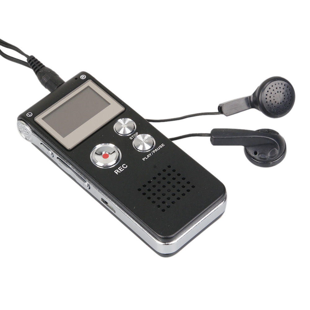 Rechargeable 8GB Digital Audio Voice Recorder Dictaphone Telephone MP3 Player ET