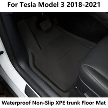 Fully Surrounded Special Foot Pad For Tesla Model 3 Waterproof Non-Slip Floor Mat TPE XPE trunk mats Accessories Mat 2013-2021