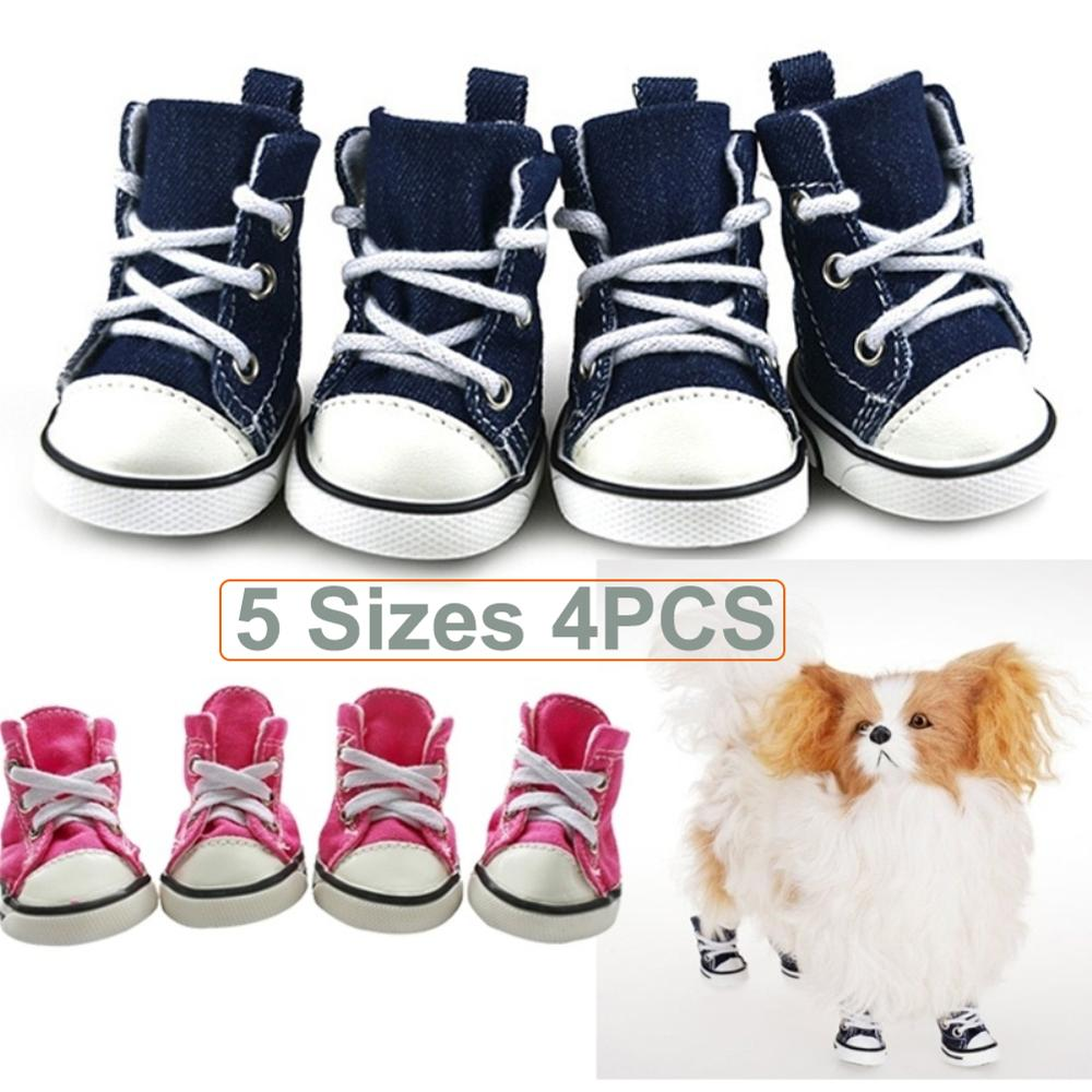 4 Pcs Pet Dog Puppy Shoes Waterproof Anti-slip Breathable Gift