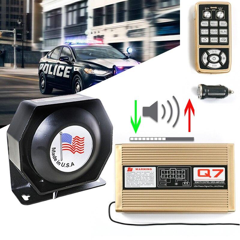 Bezprzewodowa syrena policyjna róg do samochodu 12V regulacja głośności głośnik alarmowy megafon kontroli ognia pogotowia dźwięk ostrzegawczy System PA