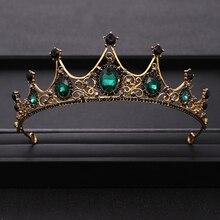 Headpiece Jewelry Hair-Ornament Bridal Tiara Crystal Rhinestones Wedding-Crown Vintage