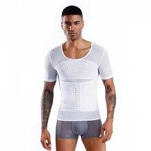 2020 new Men's Sauna Vest Ultra Sweat Shapers Shirt Man Black Waist Men's Shapers Slimming Waist Trainer Corsets shapewear