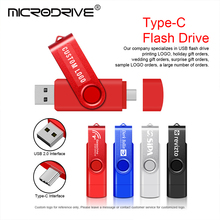 USB Flash Drive 128GB type c OTG Pen Drive 64GB 32GB 16GB 8GB 4GB External Storage Frosted Double Application Micro USB Stick