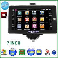 AVIN-navegador gps con cámara de visión trasera para camión, dispositivo inalámbrico de 7 pulgadas, con bluetooth, DDR, 256M, 8GB, MTK, para vehículo windows CE 6,0