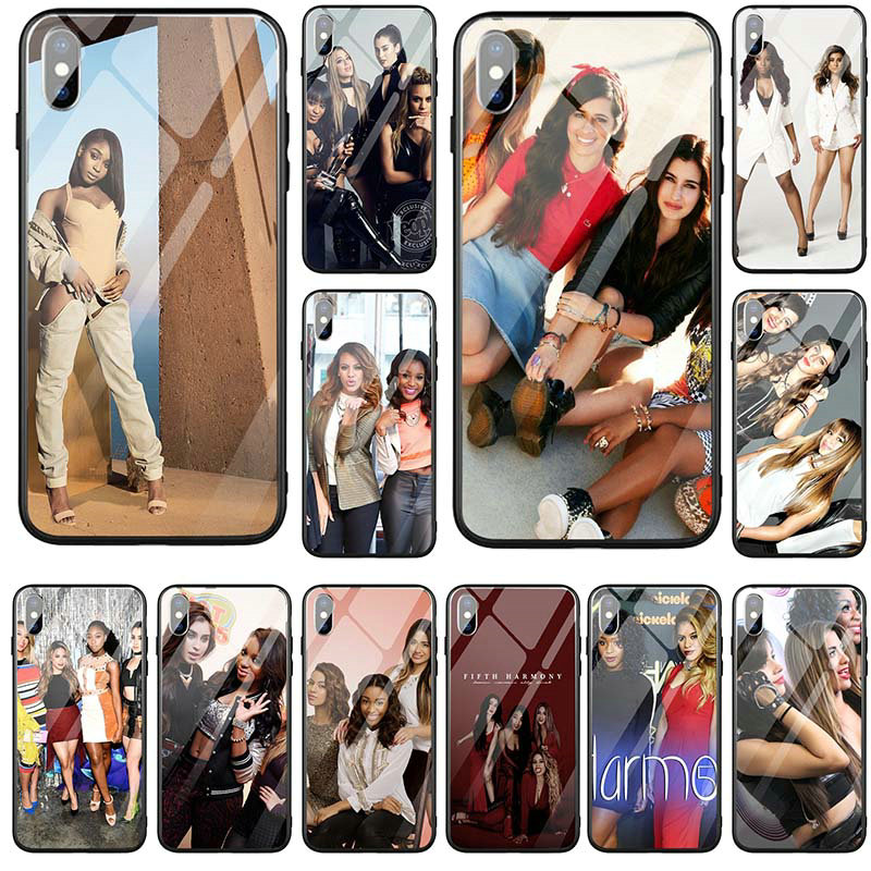 Tempered Glass Mobile Phone Cases Cover Coque Shell for iPhone 5 5S SE X XR XS Max 6 6S 7 8 Plus Fifth Harmony <font><b>Lauren</b></font> Jauregui image