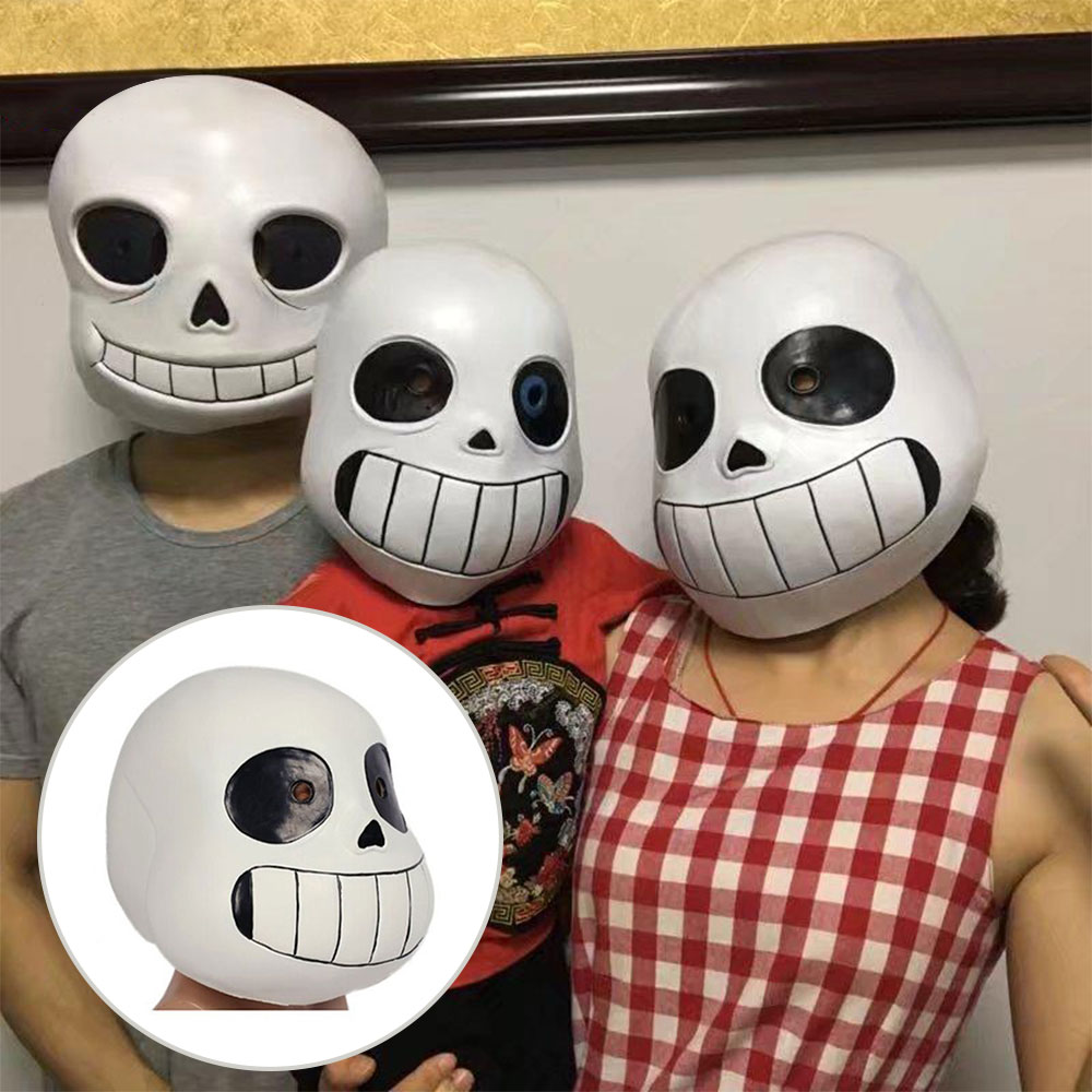 US Ship Undertale legend Cosplay Sans Papyrus mask Halloween headset game prop