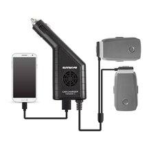 Mavic 2 araba şarjı çift pil şarj cihazı USB araba şarjı uzaktan şarj DJI MAVIC 2 PRO ZOOM drone pili şarj cihazı