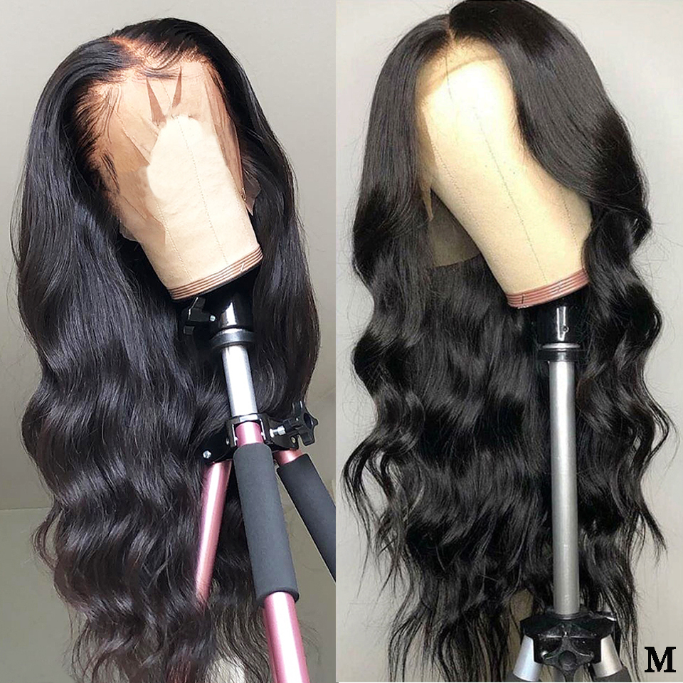 13x4 Brazilian Body Wave Lace Front Wig Remy Pre Plucked 150% Density Middle Ratio Lace Front Human Hair Wigs With Baby Hair