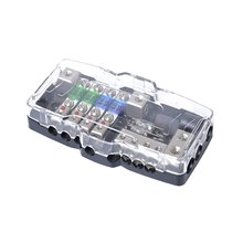 Car Audio Stereo Distribution Fuse Block ANL Fuse Holder 0/4ga 4 Way Fuses Box Block 30A 60A Universal Car Accessories