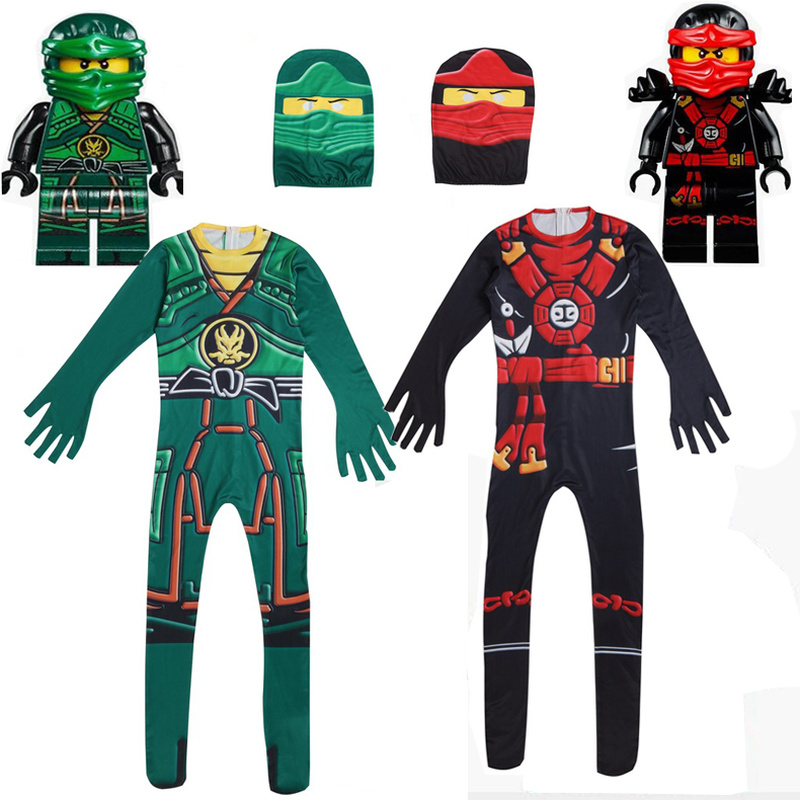 CUTE Set Kids Boys Girls Ninjago Superhero Costumes Children Cosplay Fancy Party