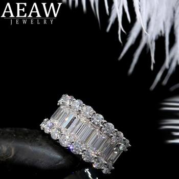 Luxury Solid 14K  Moissanite Diamond  Round Cut Half Eternity Wedding Band 1